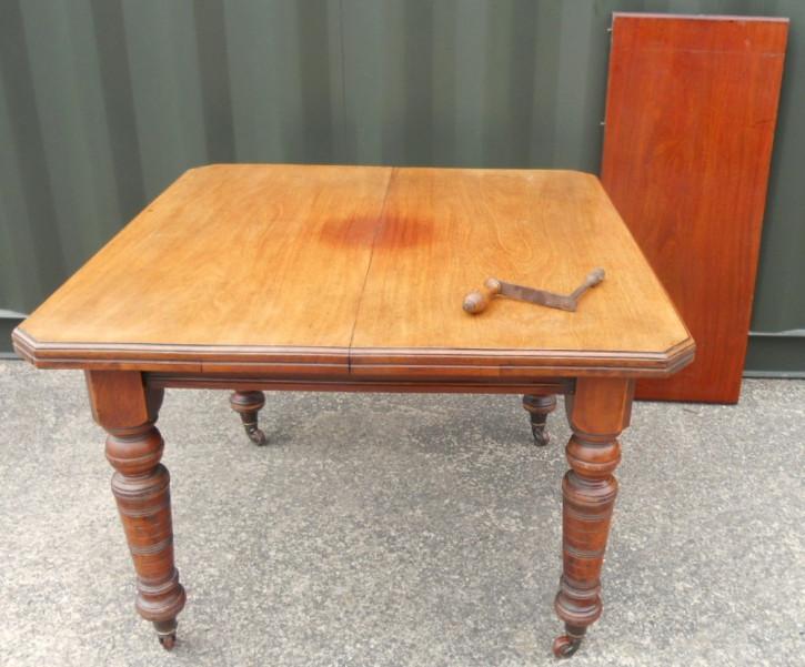 Edwardianischer antiker Mahagoni Esstisch britisch ca 1890