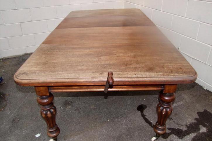 Britischer Massivholz Esstisch antik ca 19. Jh