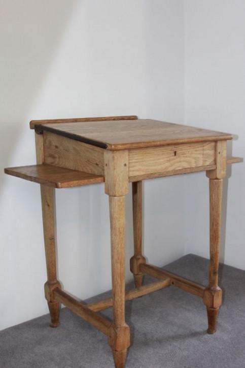 Edwardianischer Englischer Antiker Eichen Schultisch ca. 1900