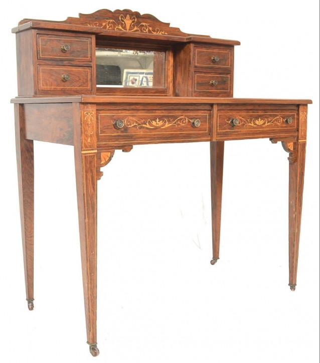 Antiker Englischer Palisander Damen Schreibtisch ca. 19. Jh.