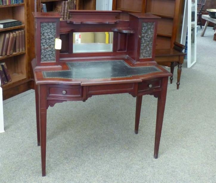 Edwardianischer Antiker Englischer Mahagoni Schreibtisch ca. 1900