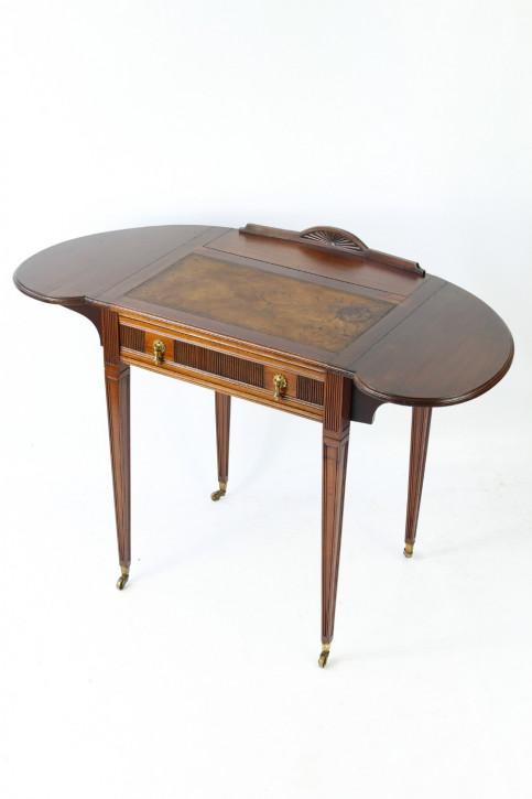 Edwardianischer Antiker Mahagoni Damenschreibtisch englisch ca. 1900
