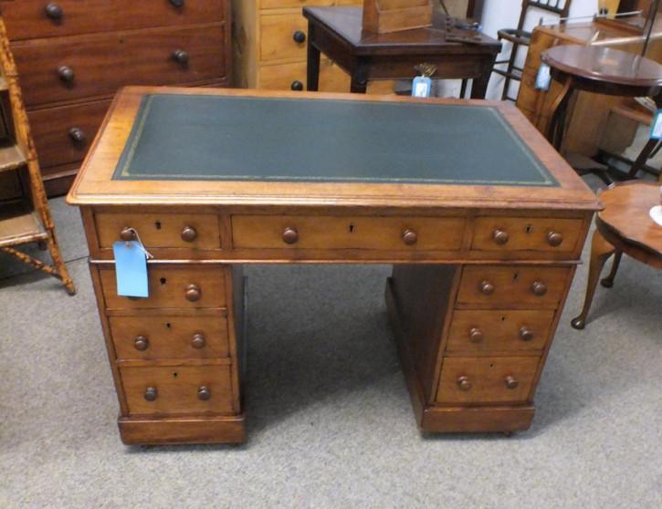 Antiker Viktorianischer Eichen Schreibtisch englisch ca. 1860