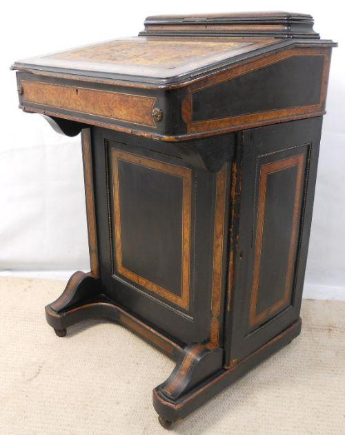 Viktorianischer antiker Davenport Schreibtisch britisch ca 1880