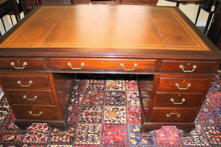 Englischer edwardianischer Mahagoni Schreibtisch antik ca 1890