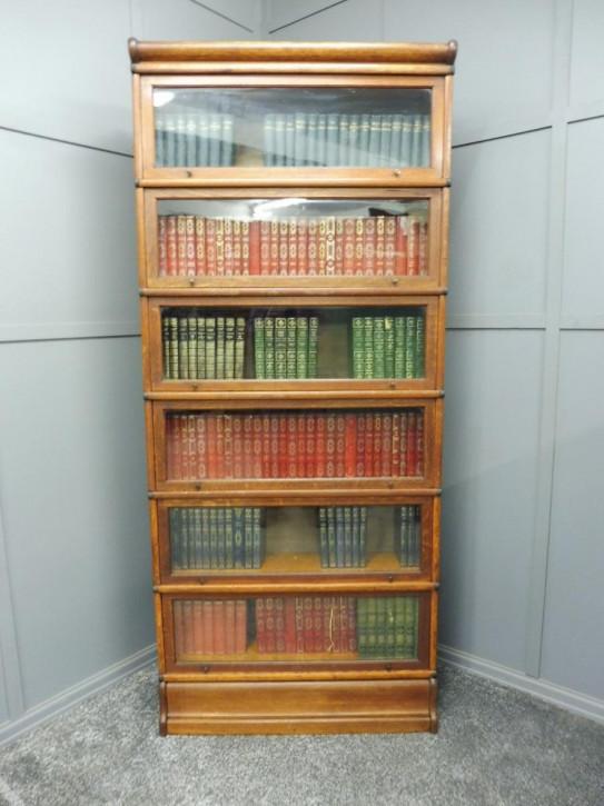 Britischer antiker Globe Wernicke Bücherschrank Eiche edwardianisch ca 1890
