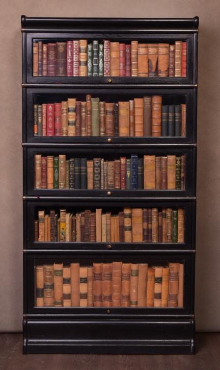 Antiker edwardianischer Eichen Bücherschrank Globe Wernicke englisch ca 1890