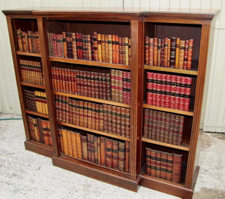 Englischer antiker Breakfront Bücherschrank Mahagoni ca 19. Jh
