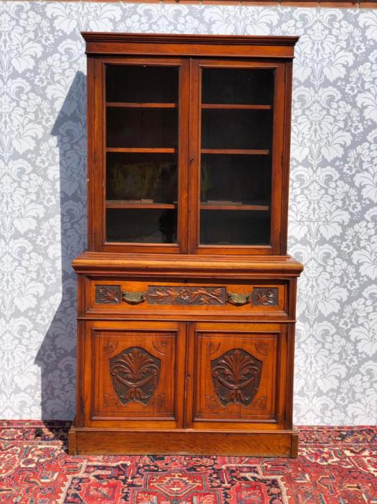 Antikes viktorianisches Bücherregal Nussbaum britisch ca 1860