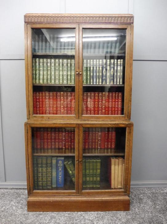 Englischer antiker Eichen Bücherschrank Globe Wernicke ca 1920