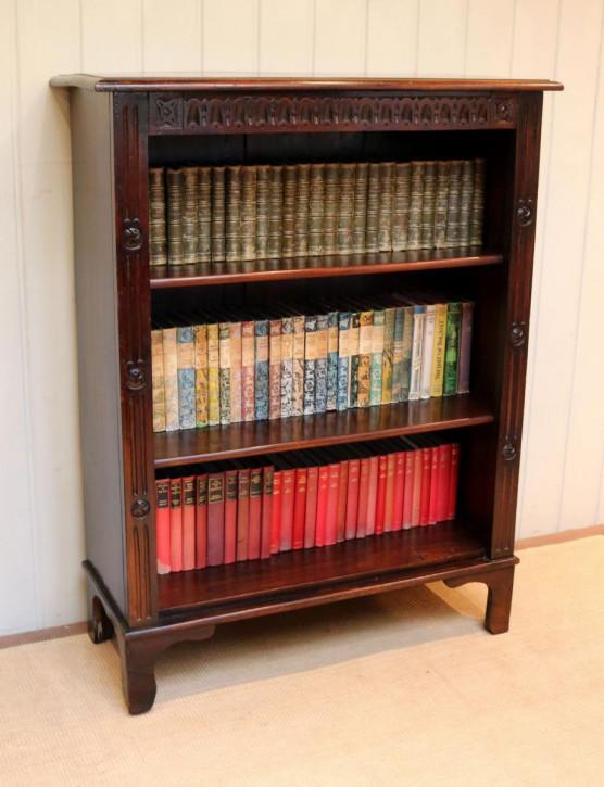 Antiker britischer Buchen Bücherschrank ca 1910