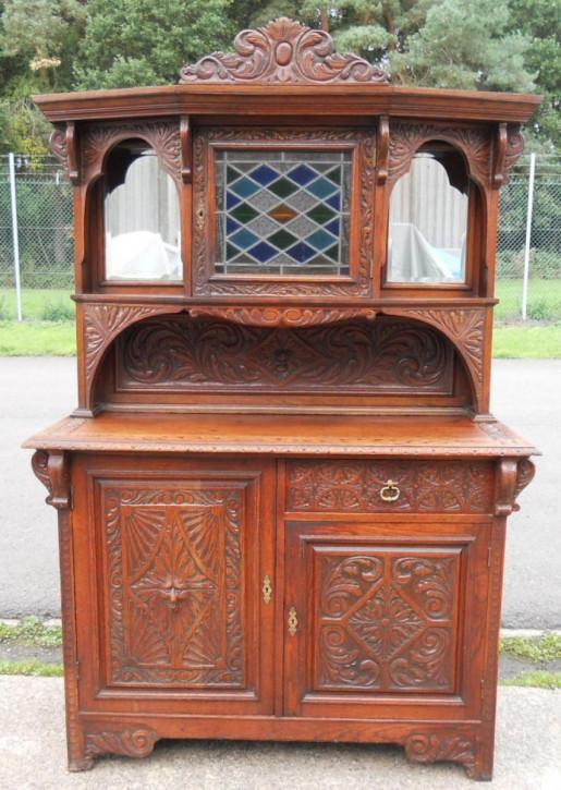 Englisches viktorianisches Sideboard Eiche antik ca 1870