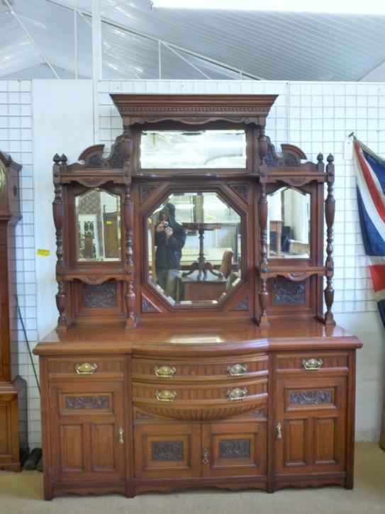 Edwardianisches antikes Massivholz Sideboard britisch ca 1890