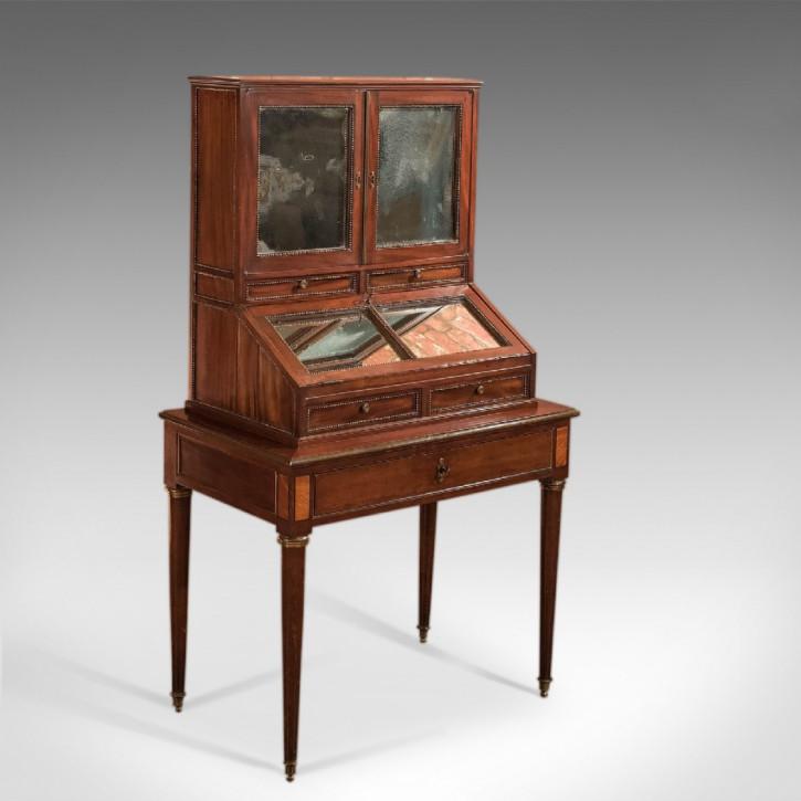 Antiker französischer Bonheur du Jour Sekretär Mahagoni ca 1800