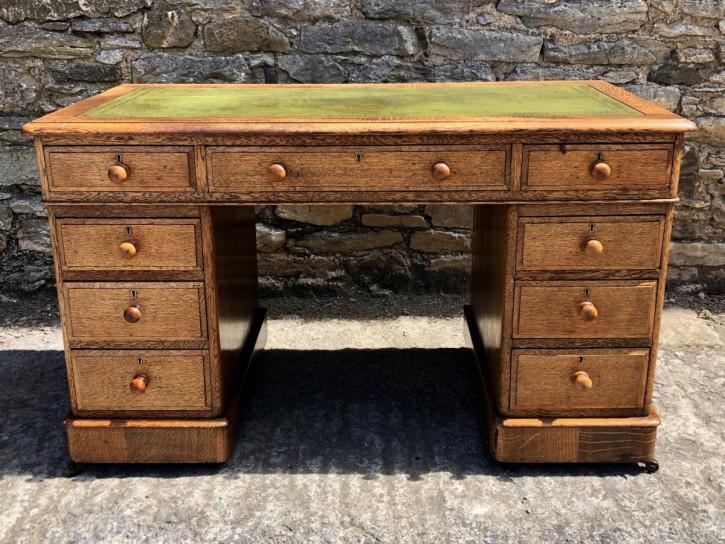 Original antiker Eichen Schreibtisch britisch ca 1900