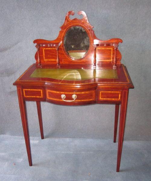 Edwardianischer Antiker Mahagoni Damen Schreibtisch englisch ca. 1900