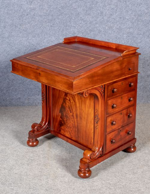Viktorianischer Davenport Schreibtisch antik ca 1870