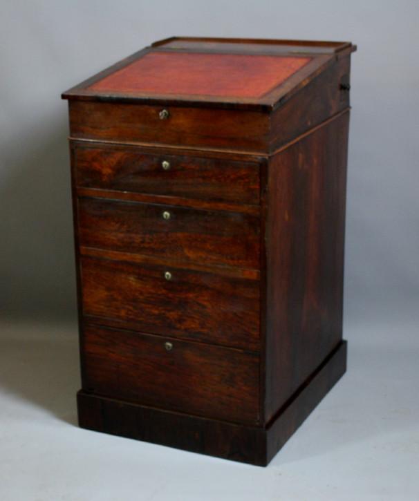 Regency Palisander Davenport Schreibtisch antik ca 1800