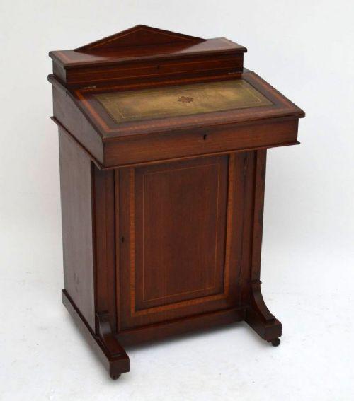 Edwardianischer Davenport Schreibtisch englisch antik ca 1900