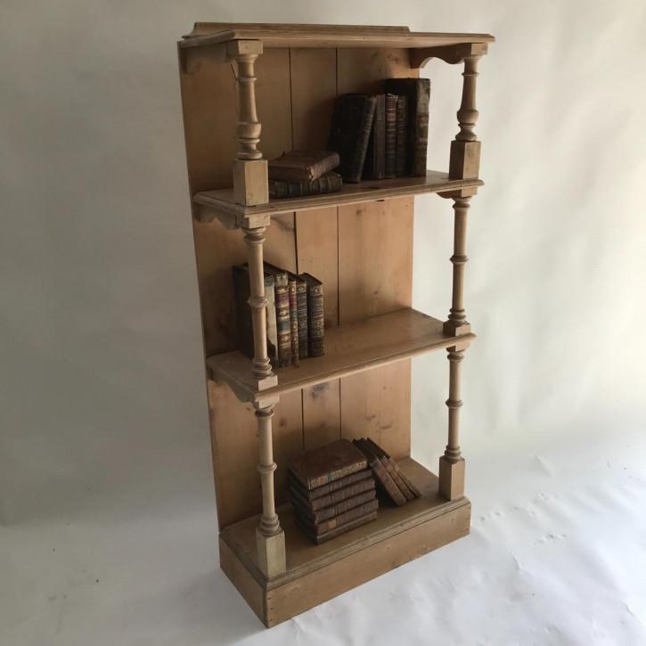 Französisches Kiefer Bücherregal antik ca 1910