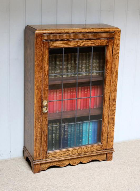 Antiker Massivholz Bücherschrank Eiche ca 1920