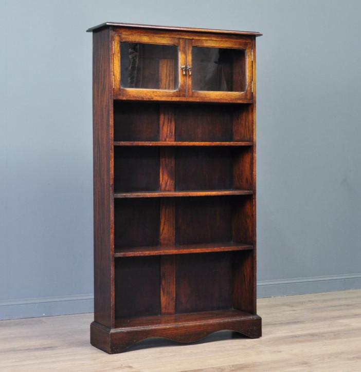 Englisches Eichenholz Bücherregal Massivholz Antik ca 1920