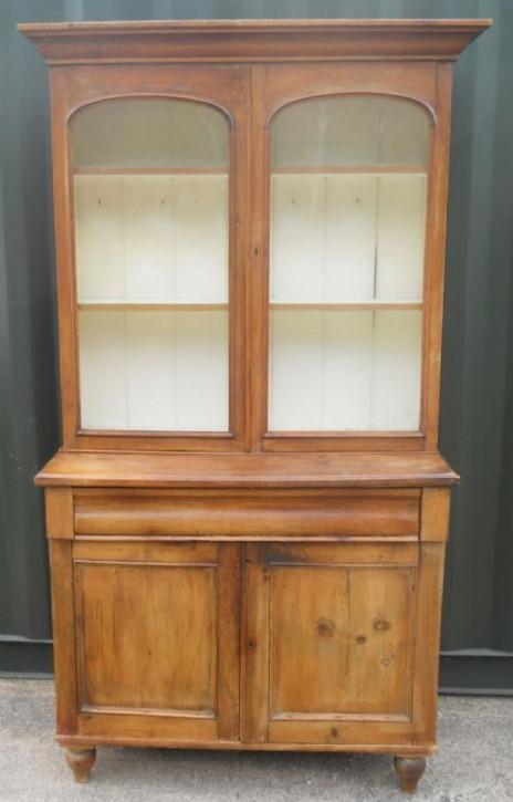Viktorianischer Kiefer Bücherschrank Weichholz antik ca 1830