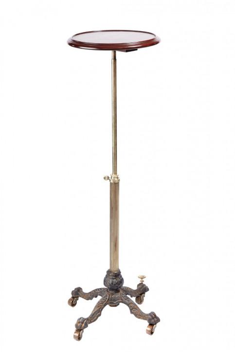 Viktorianischer Teleskoptisch aus Eiche und Messing