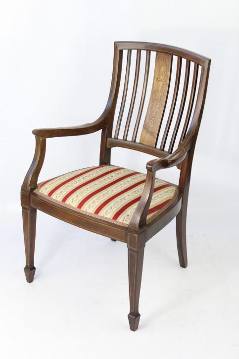 Kleiner Vikotrianischer Rosenholz Stuhl