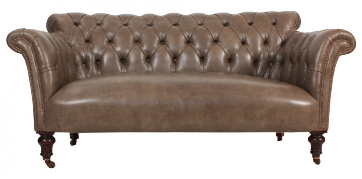 Antikes graues Chesterfield Sofa