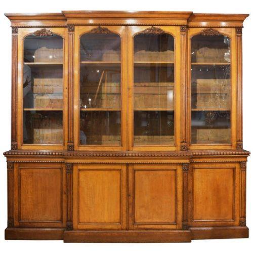 Bücherschrank aus Eichenholz aus dem 19. Jahrhundert