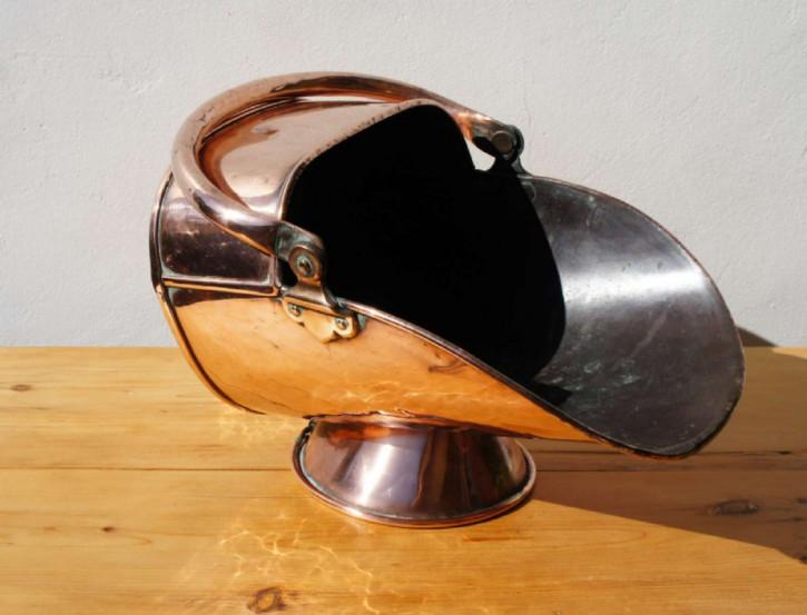 Kohle Scuttles Behälter copper coal scuttle Kupfer antik ca. 1880-1900 viktorianisch