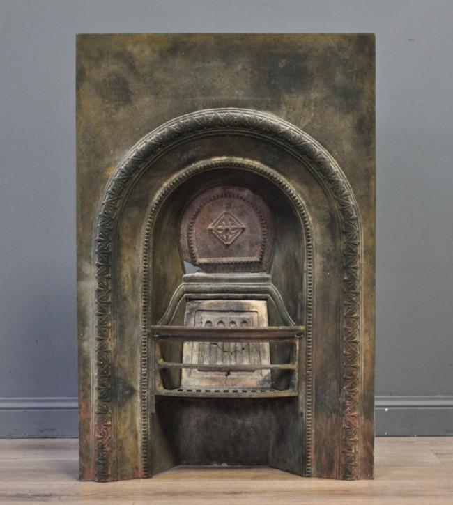 Antik Kamin gusseisen viktorianisch, ca. spätes 19. Jahrhundert