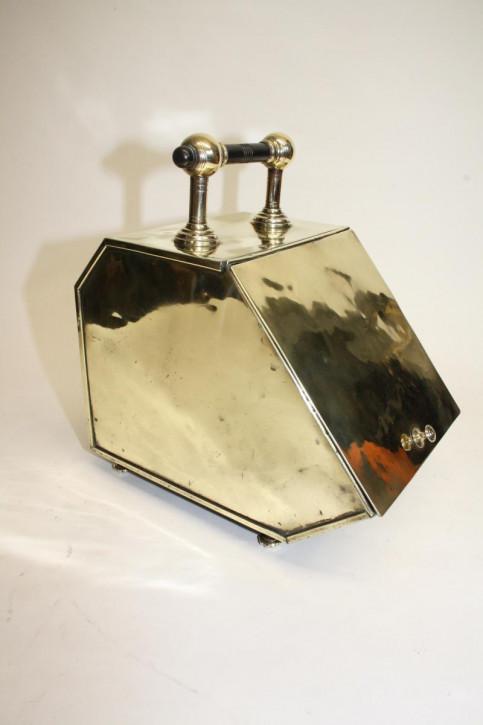 Brass coal scuttle antik Kohlekugel Kohlebehälter Messing 19. Jahrhundert viktorianisch