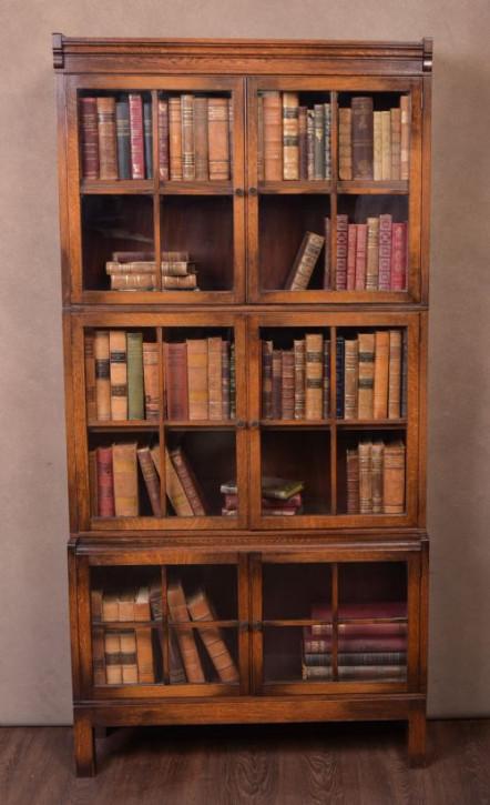 Bücherschrank Bücherregal Antik Eiche Massivholz ca. 1920