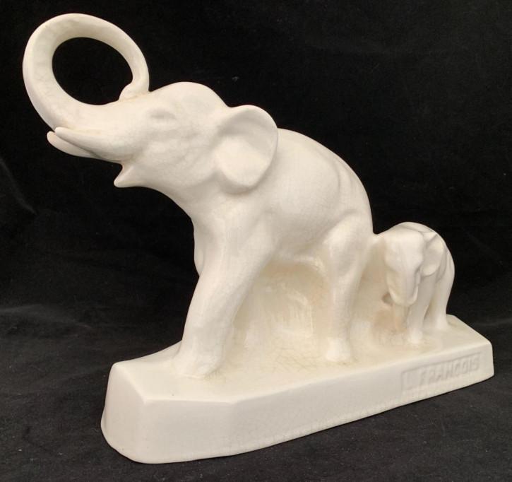 Art-Deco-Elefantengruppe/ Dekoration von Jean l Francois (1882-1941)