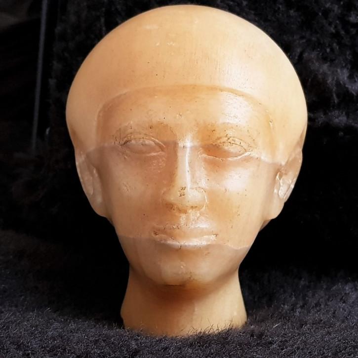 Ägyptischer Kopf aus Alabaster.20. Jahrhundert