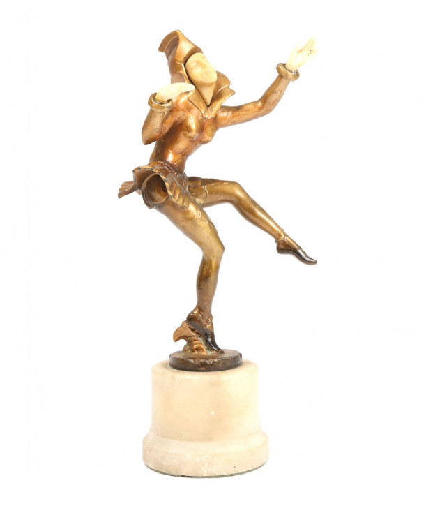 Antike Art Deco Bronzefigur. Etwa 1930