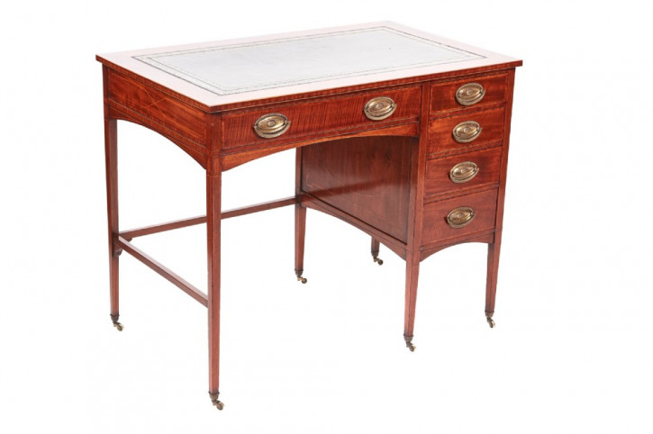 Pedestal Desk Sockel Tisch Antik Massivholz Mahagoni Schreibtisch edwardianisch