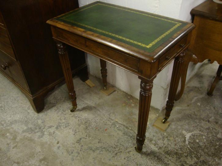 Antike Regentschaft Mahagoni Gillow's Lady Schreibtisch / Architektentisch