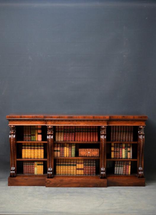 Palisander Breakfront offenes Bücherregal, William IV