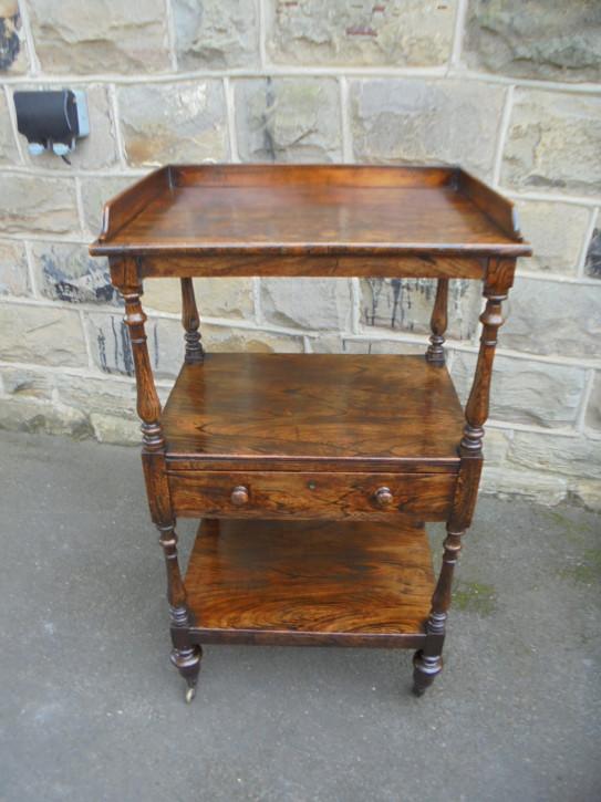 kleiner Tisch , faux Rosenholz, Regency Stil