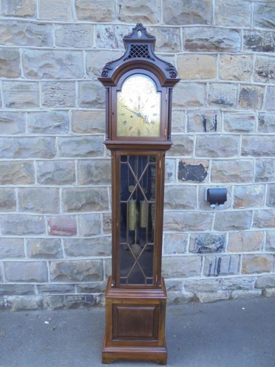 Longcase clock Langgehäuse Uhr antik Mahagoni Massivholz ca. 1900
