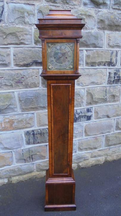 Antike Walnuss Massivholz granddaughter Uhr georgianisch