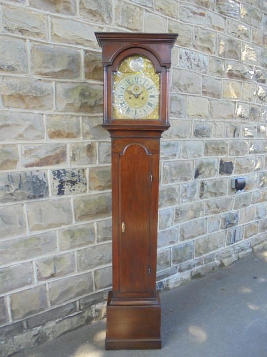 Langgehäuse Uhr walisisch antik Eiche Massivholz georgianisch