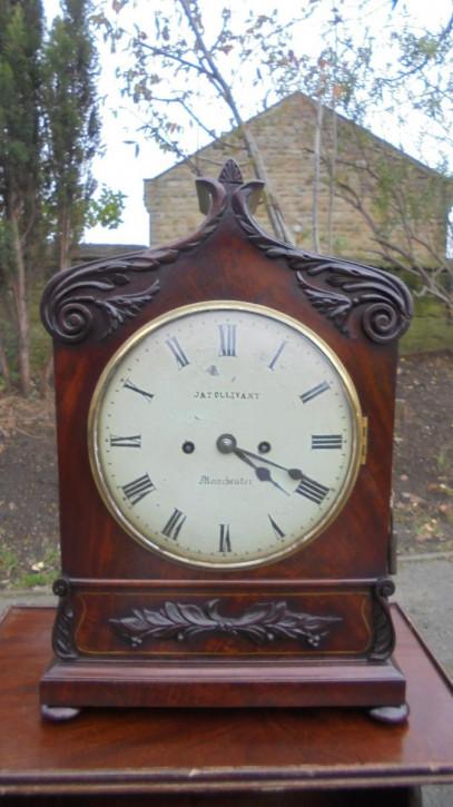 Regentschaft Massivholz Mahagoni Messing Uhr Antik viktorianisch