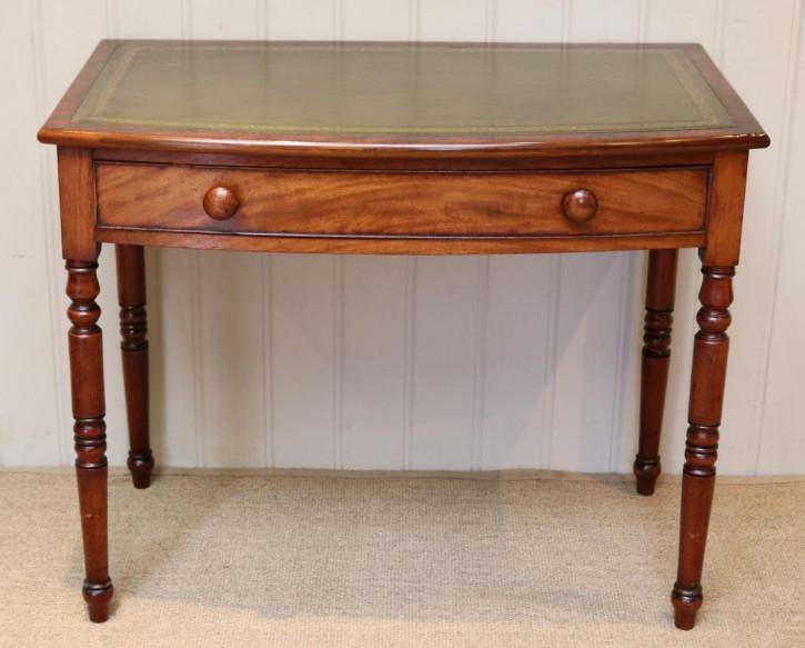antiker Schreibtisch, Bow Front , Mahagoni
