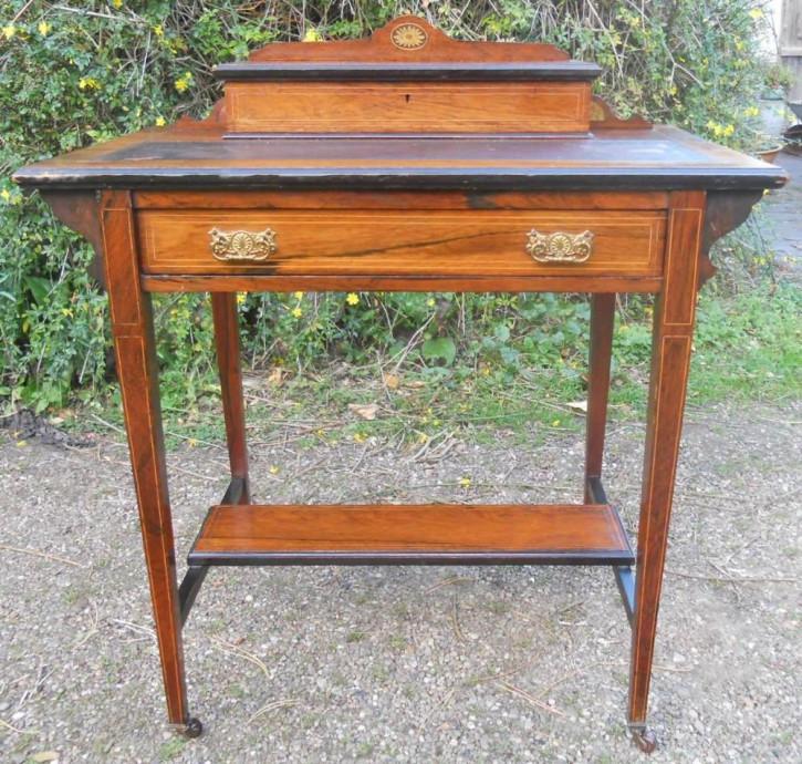 Ladies  Desk, kleiner Schreibtisch, Palisander, edwardian Stil