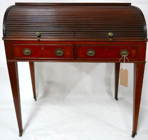 antiker Rolltisch, Mahagoni, 18. Jahrhundert