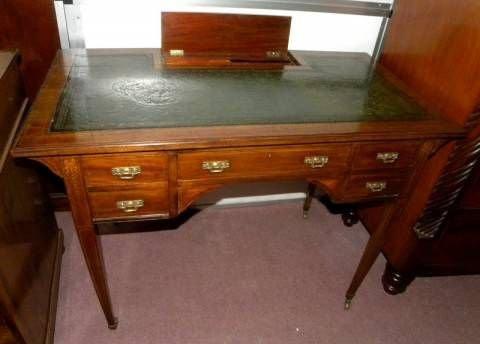 antiker Sheraton Revival Schreibtisch, viktorianisch